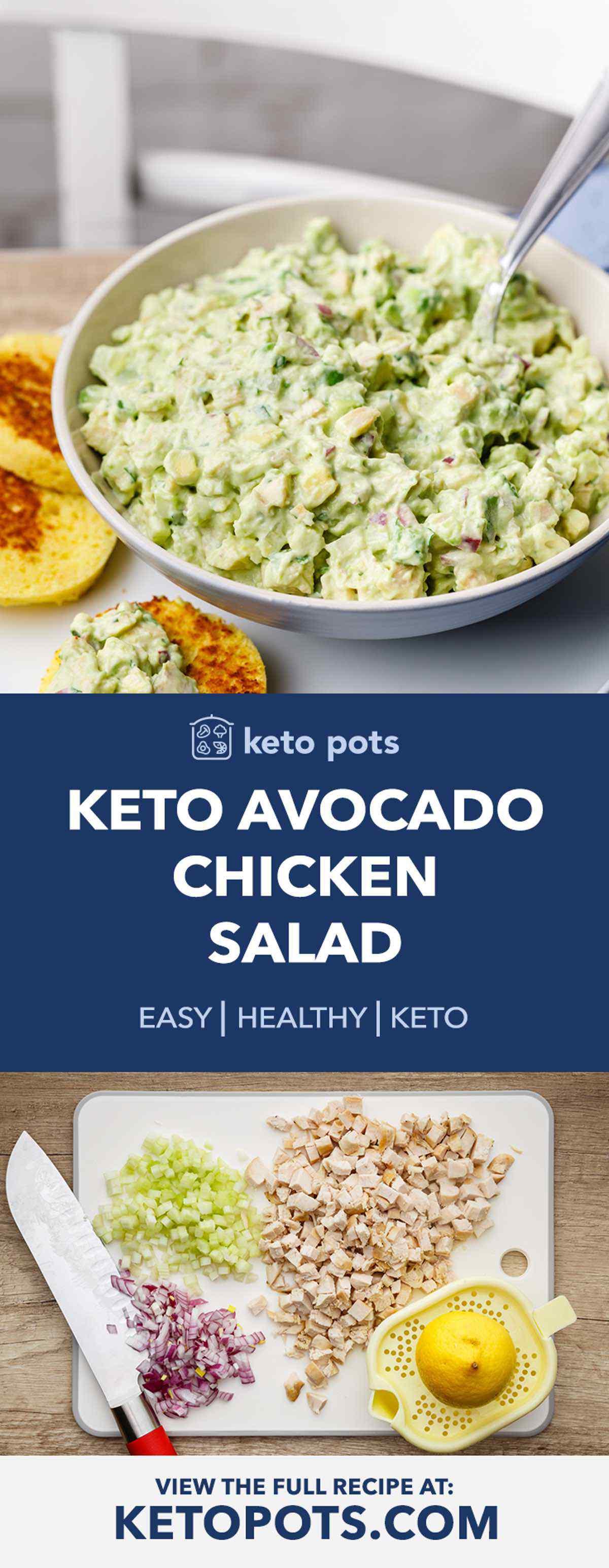 Creamy Avocado Keto Chicken Salad
