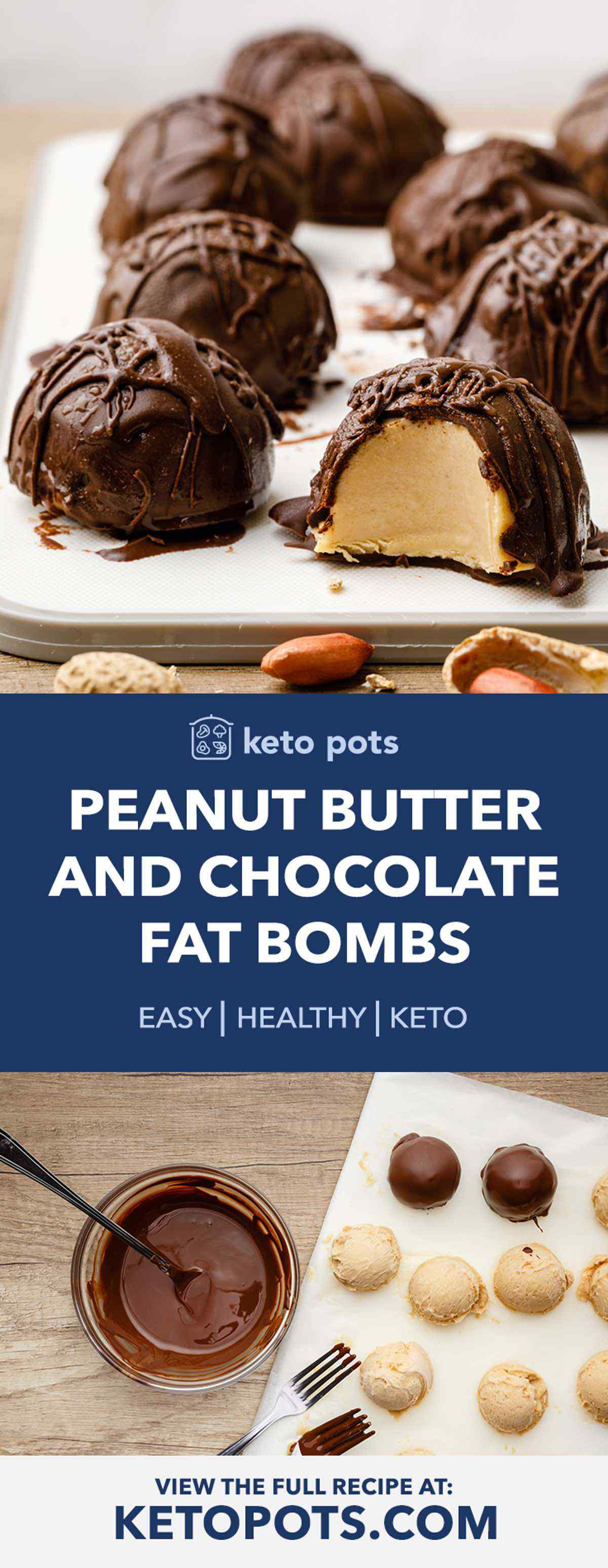 Peanut Butter and Chocolate Keto Fat Bombs