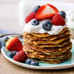 Cream Cheese Keto Pancakes with Berries