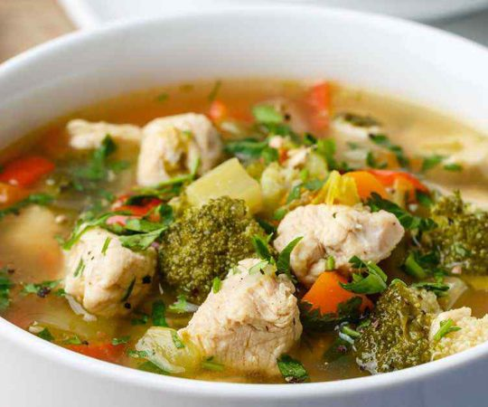 Bone Broth Keto Chicken Soup
