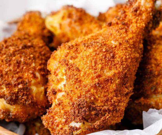 Crunchy Keto Fried Chicken