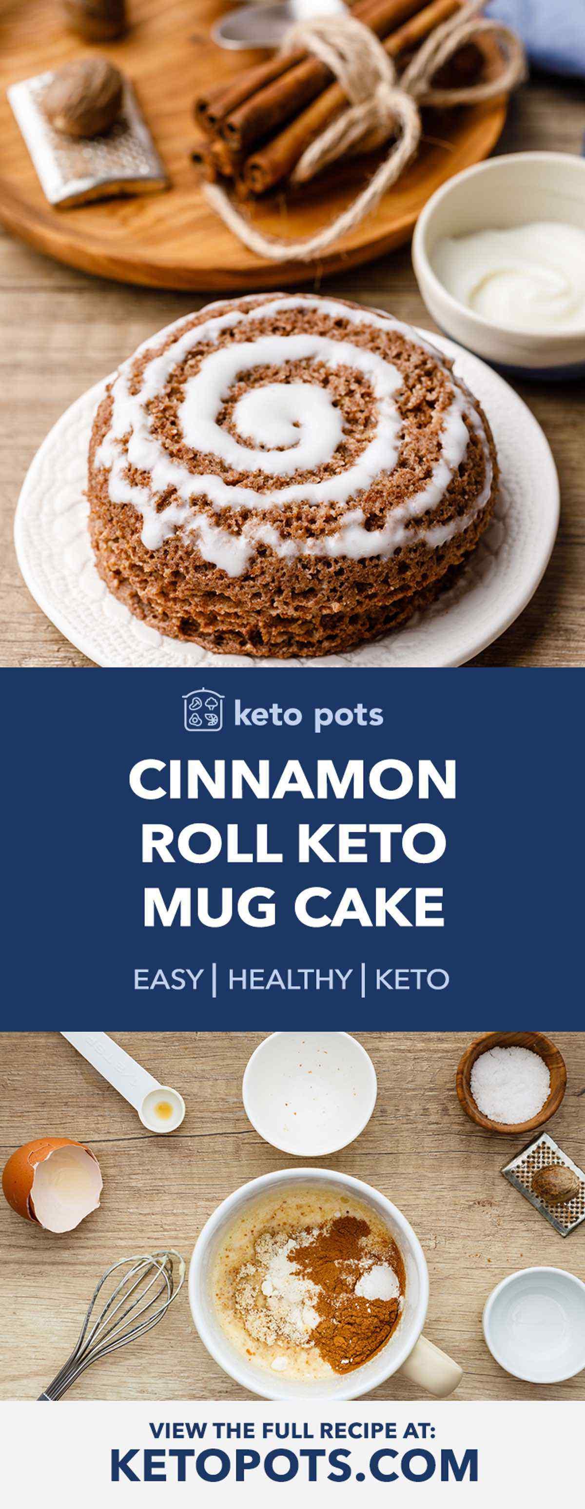 Guilt-Free Keto Cinnamon Roll Mug Cake (Holy Moly This is ...