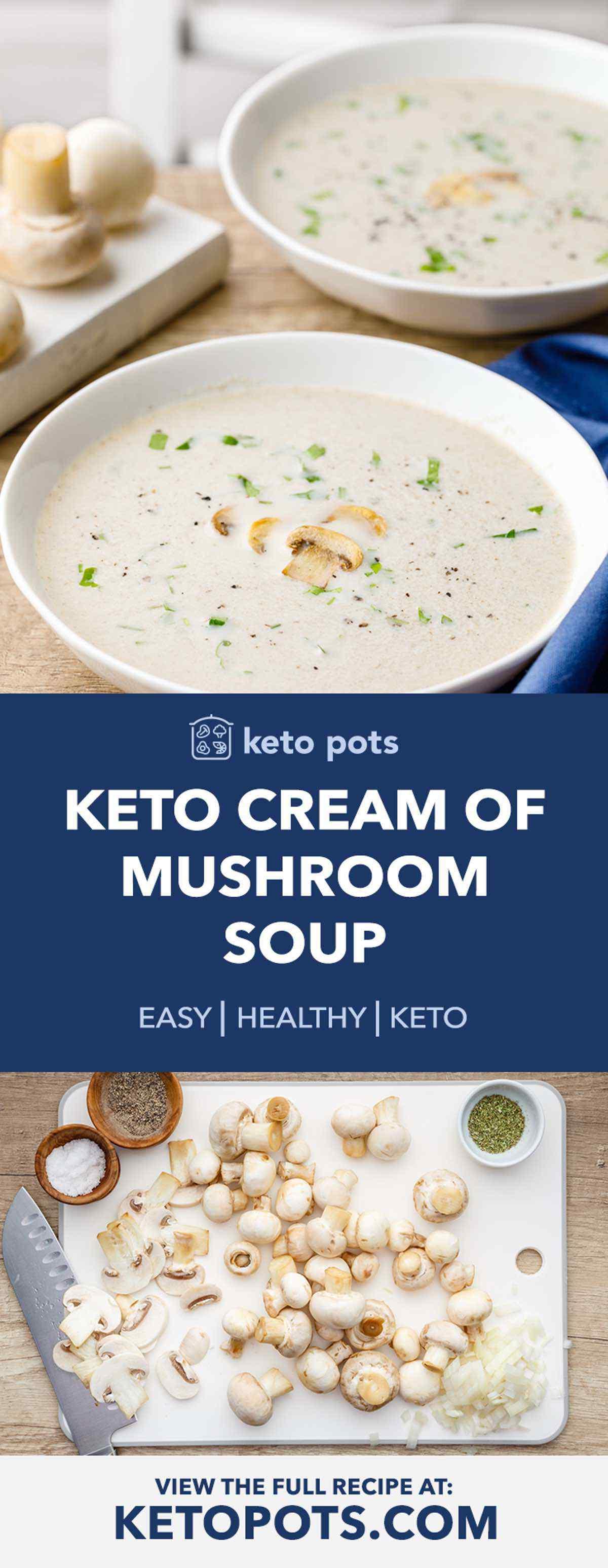 Homemade Keto Cream of Mushroom Soup