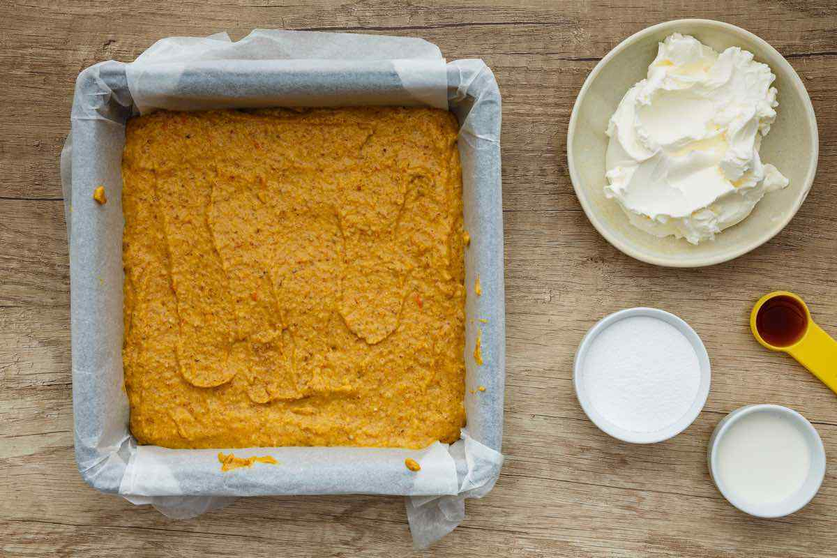 Keto Pumpkin Bars with Cream Cheese Frosting