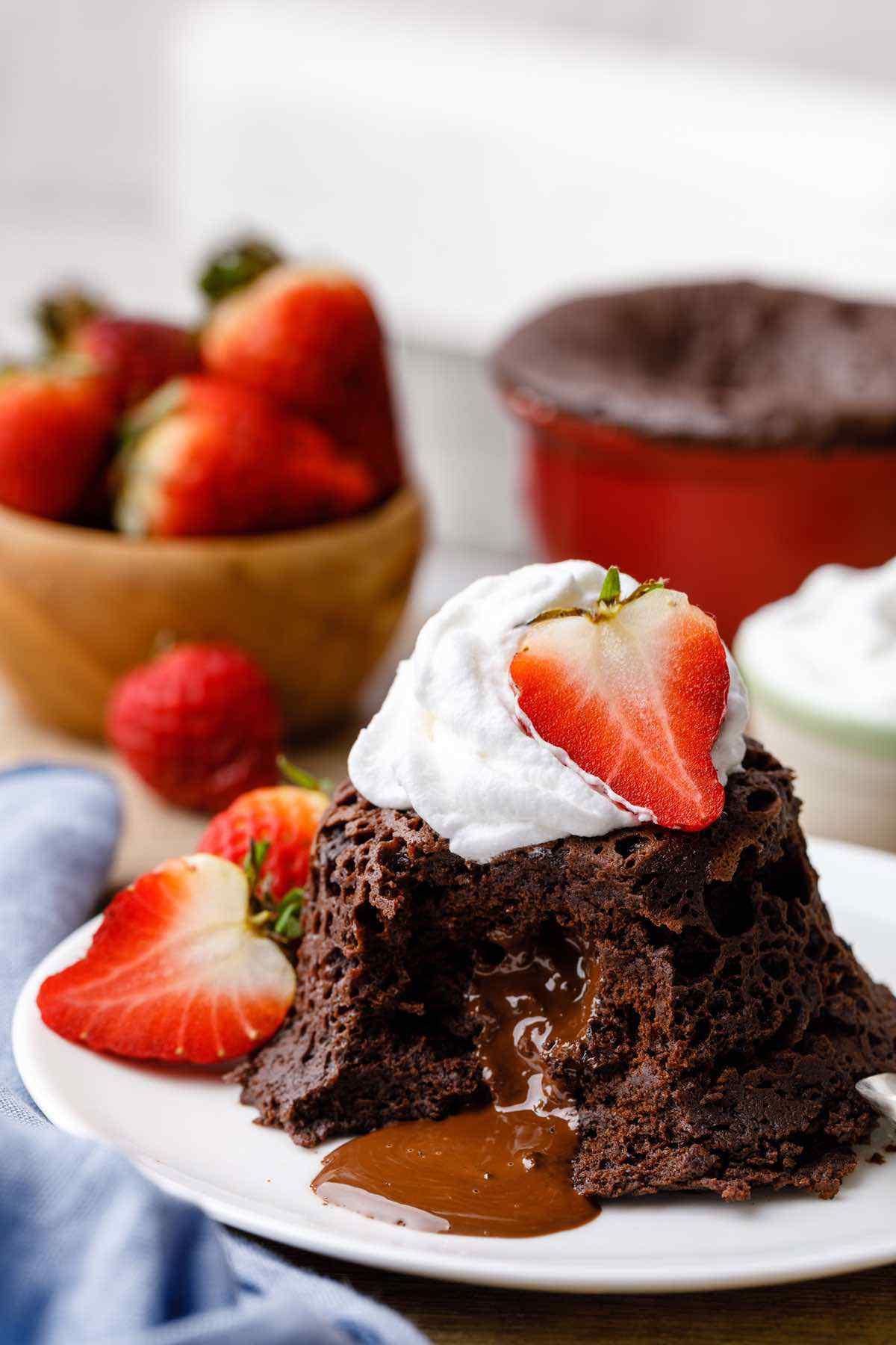 Keto Molten Chocolate Lava Mug Cake