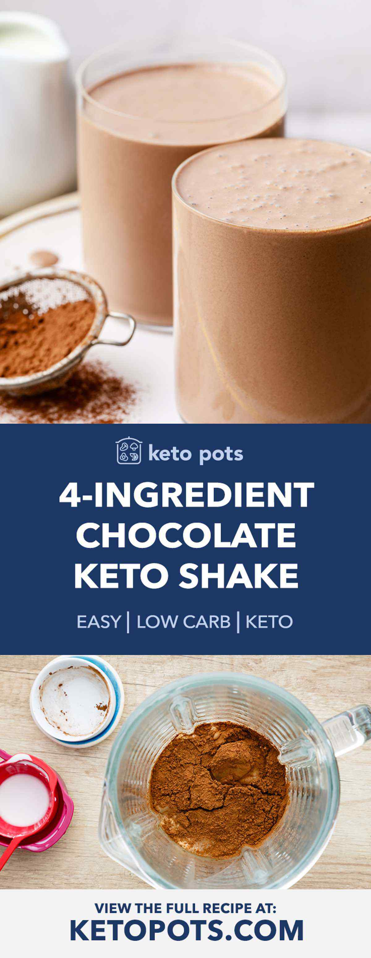 4-Ingredient Keto Chocolate Shake