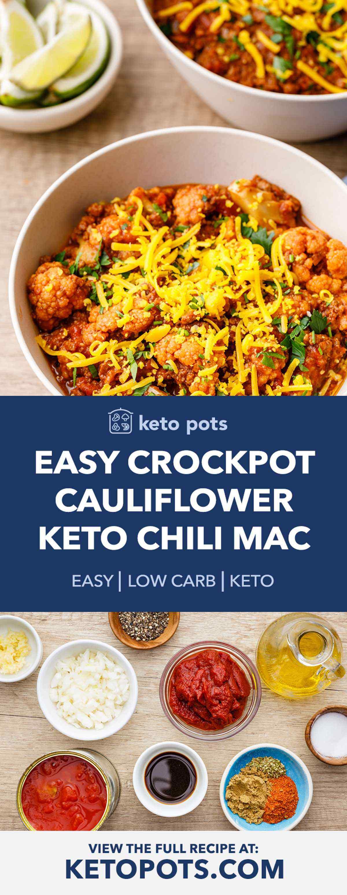 Easy Crockpot Keto Chili Mac