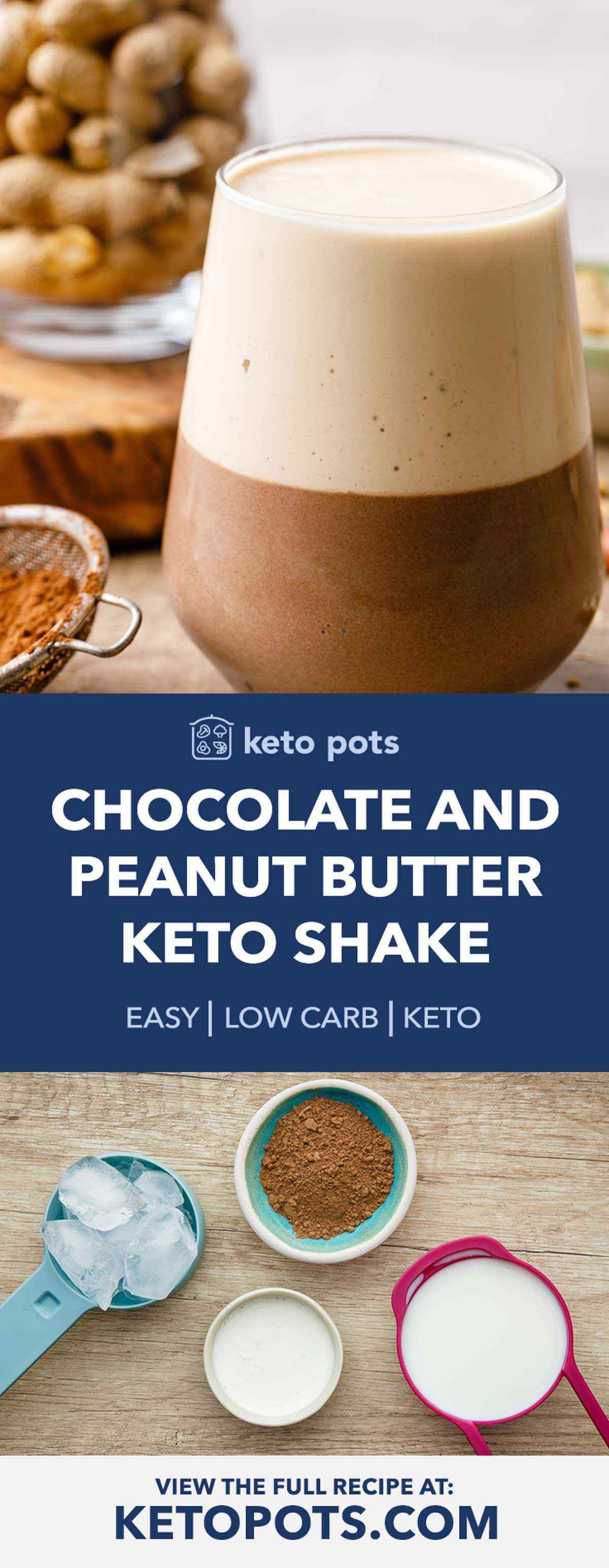 Keto Peanut Butter Chocolate Shake