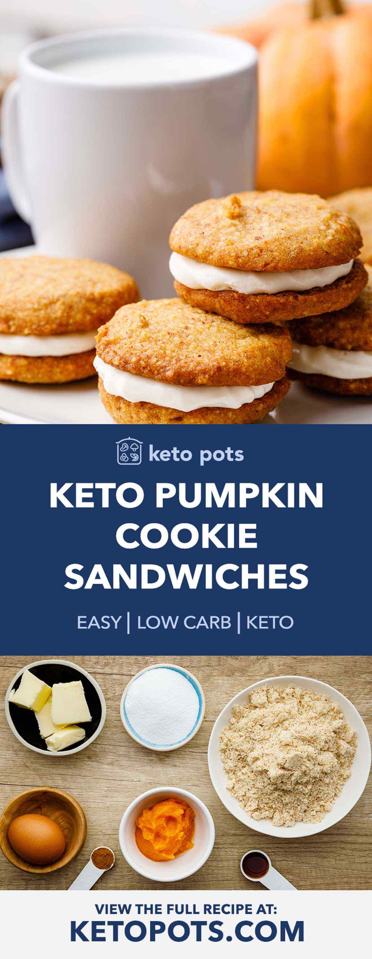 Keto Pumpkin Cookie Sandwiches