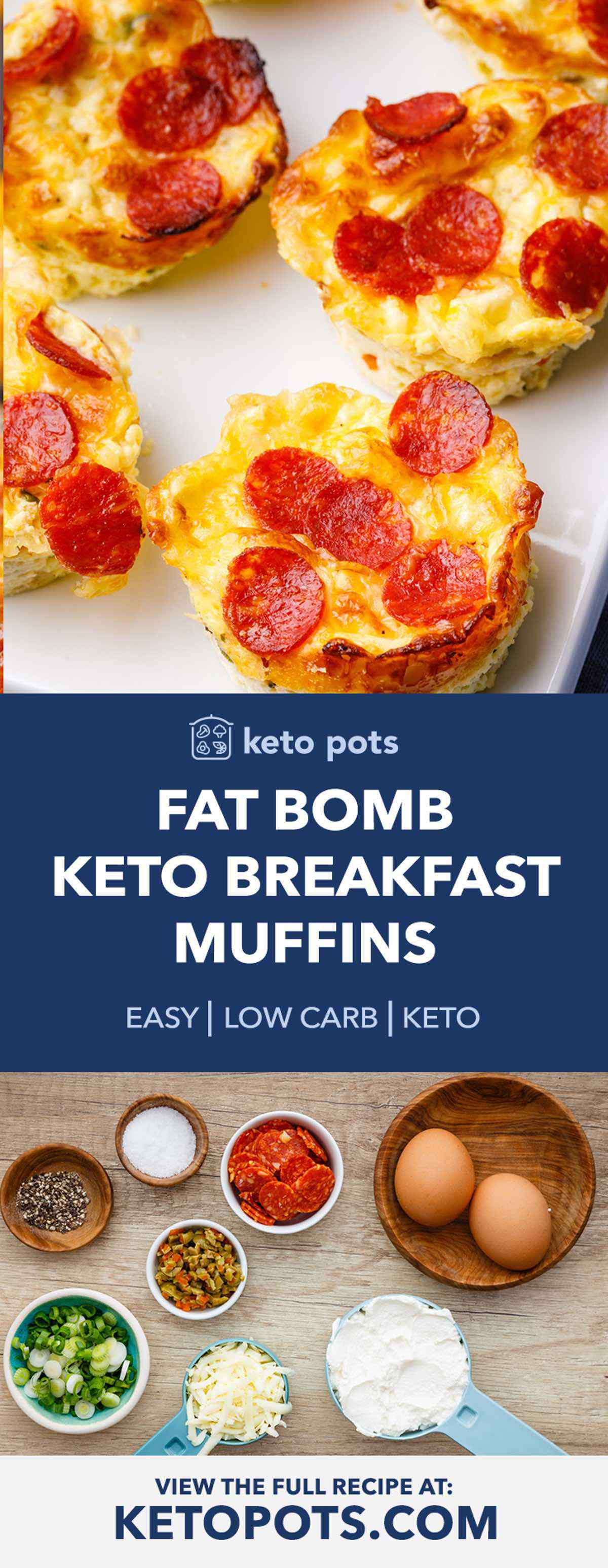 Fat Bomb Keto Breakfast Muffins