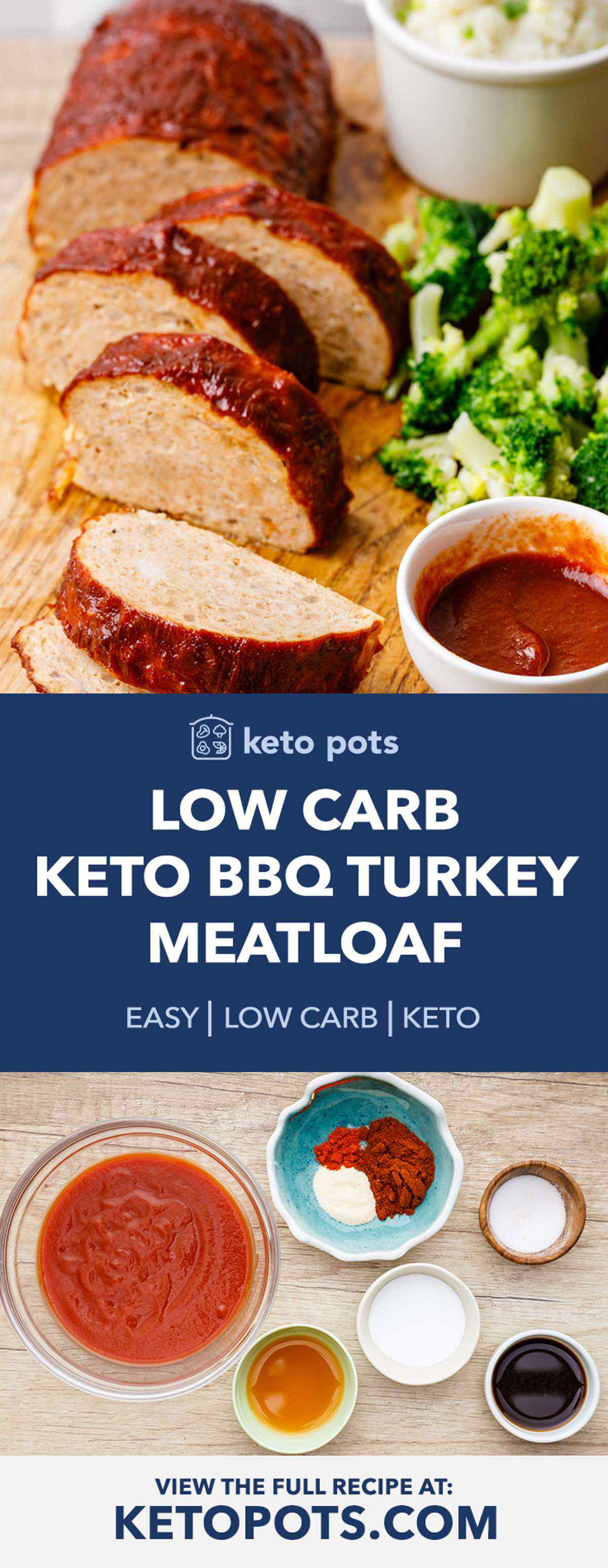 Low Carb Keto Turkey Meatloaf