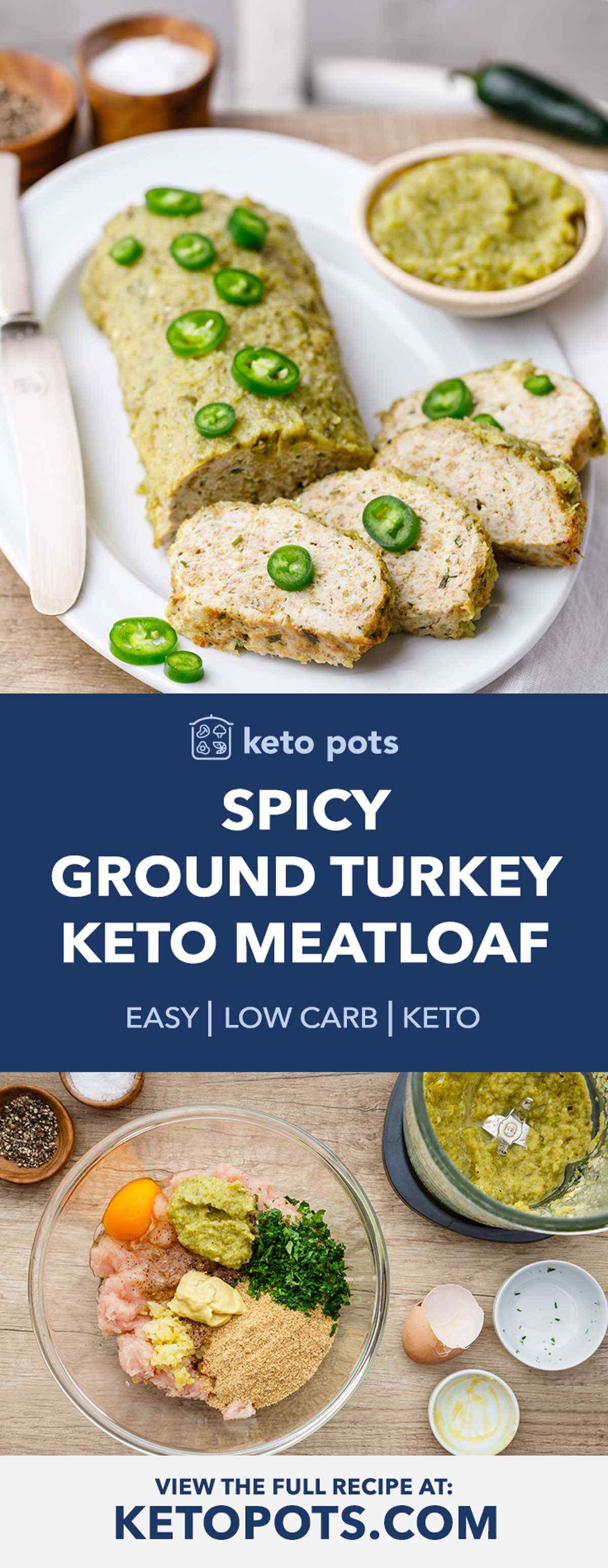 Keto Ground Turkey Meatloaf