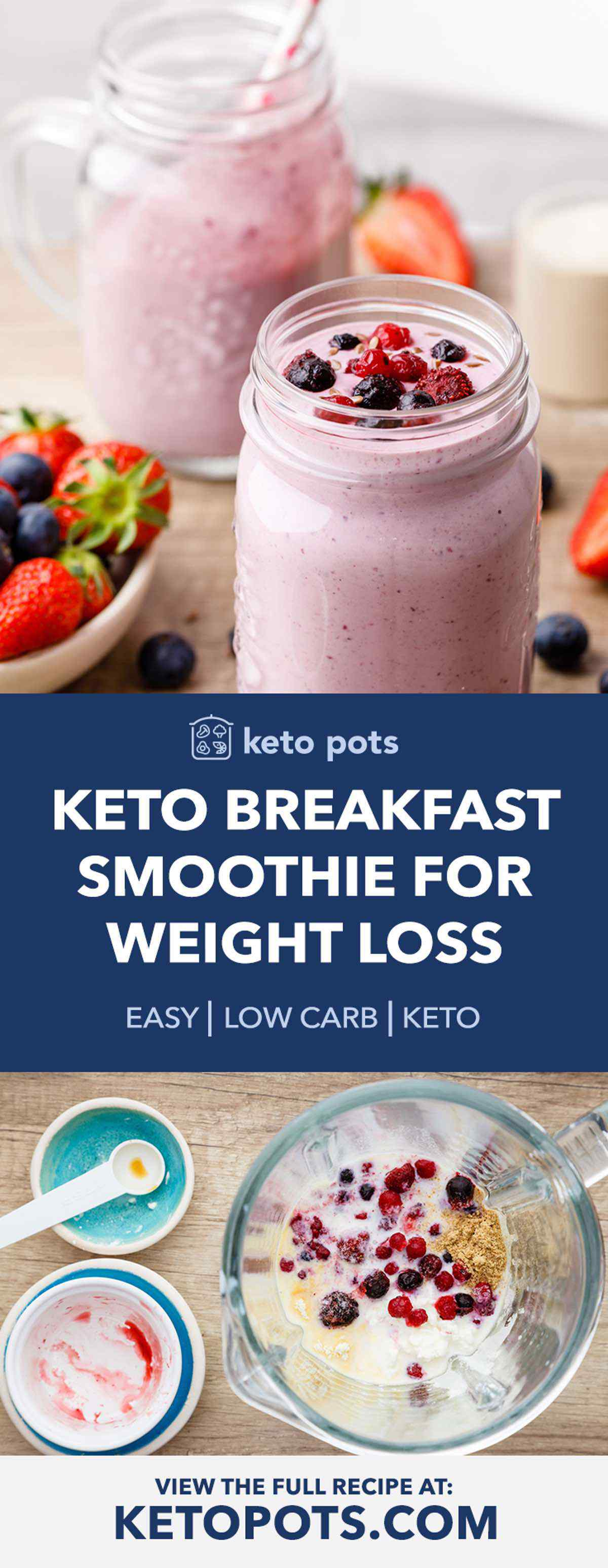 Protein Packed Keto Breakfast Smoothie For Weight Loss Keto Pots