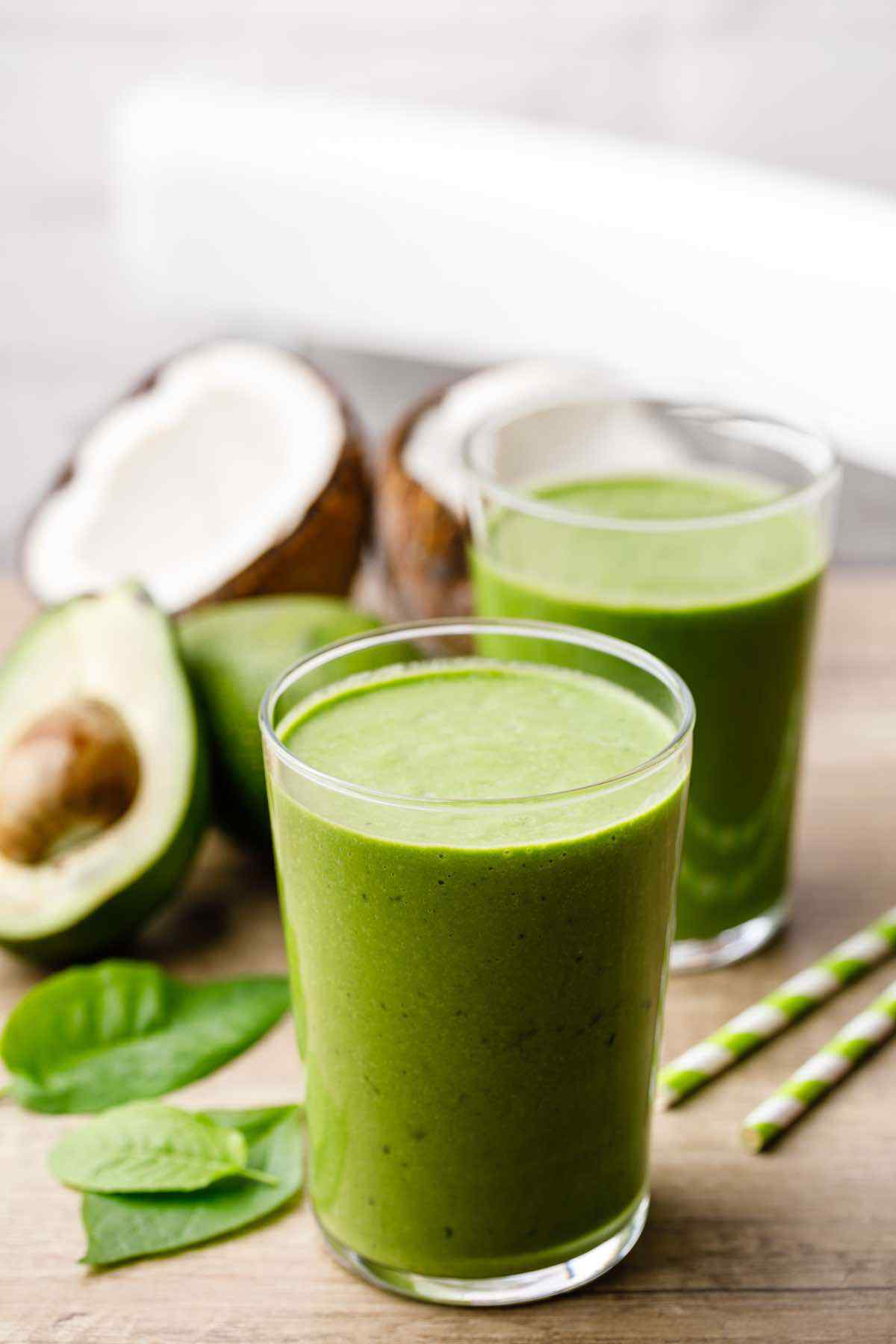 Keto Avocado Green Breakfast Smoothie