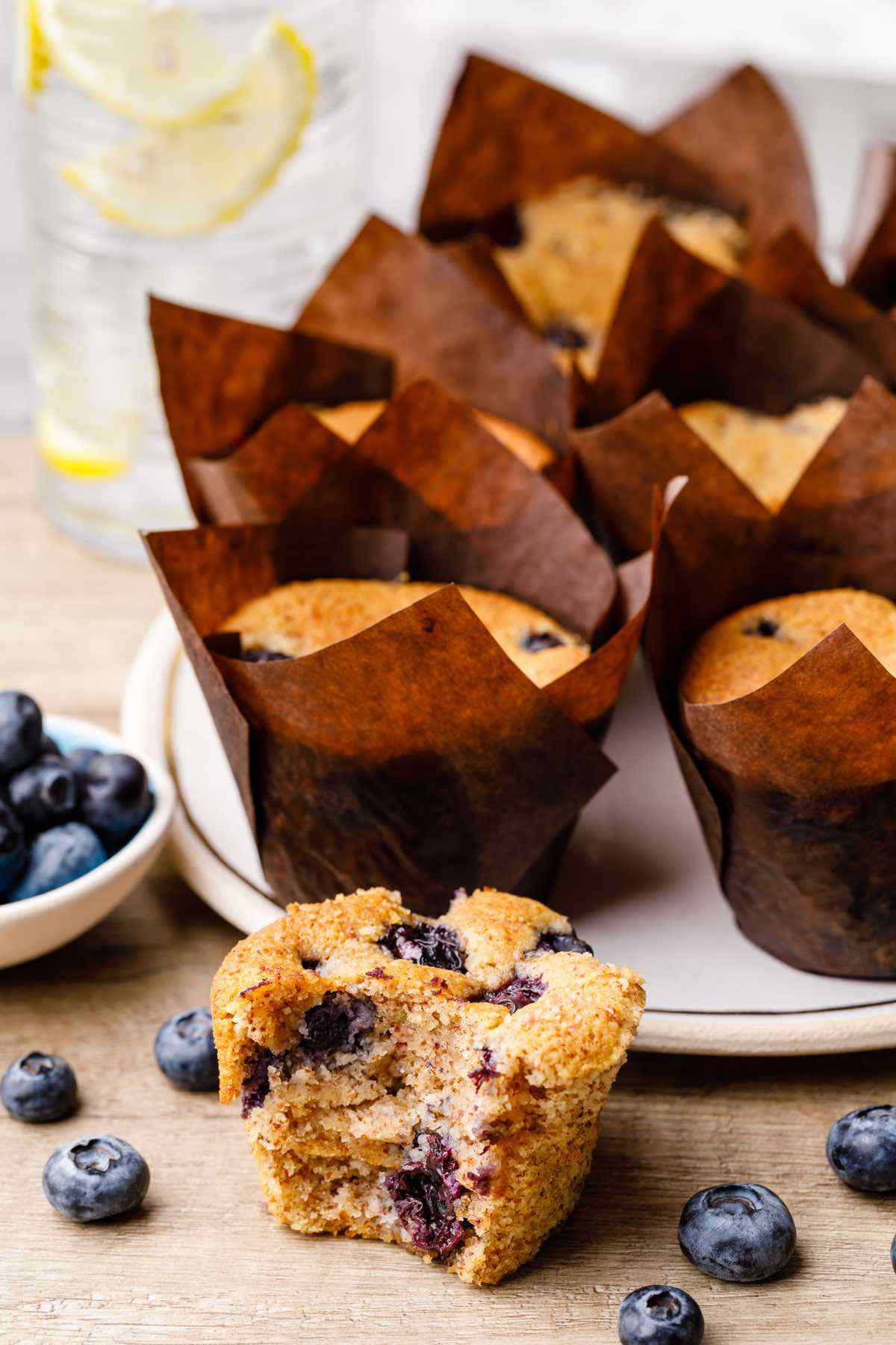 Cream Cheese Keto Blueberry Muffins
