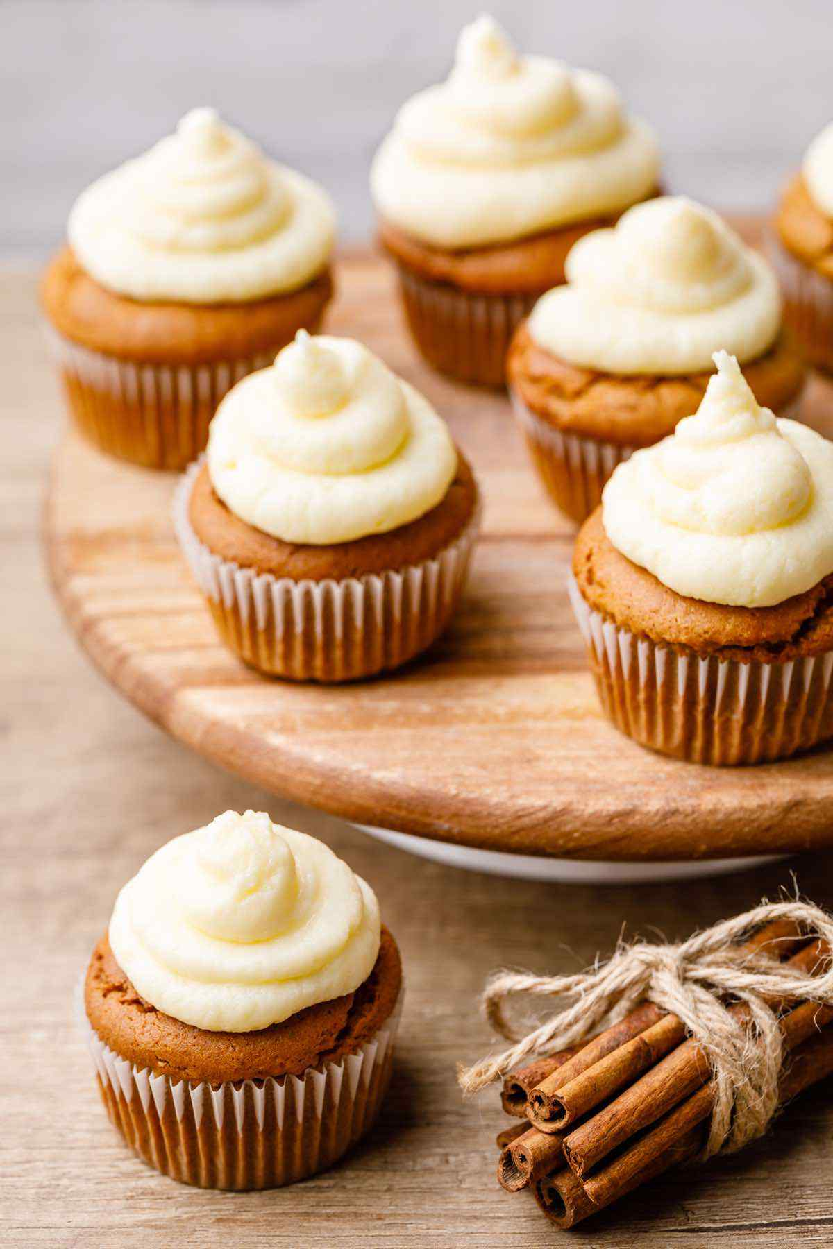 Keto Pumpkin Muffins With Cream Cheese Frosting