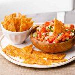 Homemade Keto Tortilla Chips and Fresh Salsa
