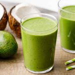 Keto Avocado Green Breakfast Smoothie