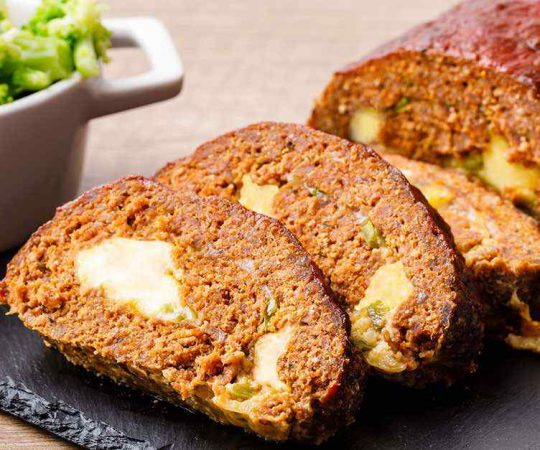 Juicy Lucy Keto Meatloaf (Cheese Stuffed Meatloaf)