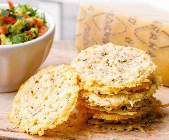 Baked Keto Parmesan Chips