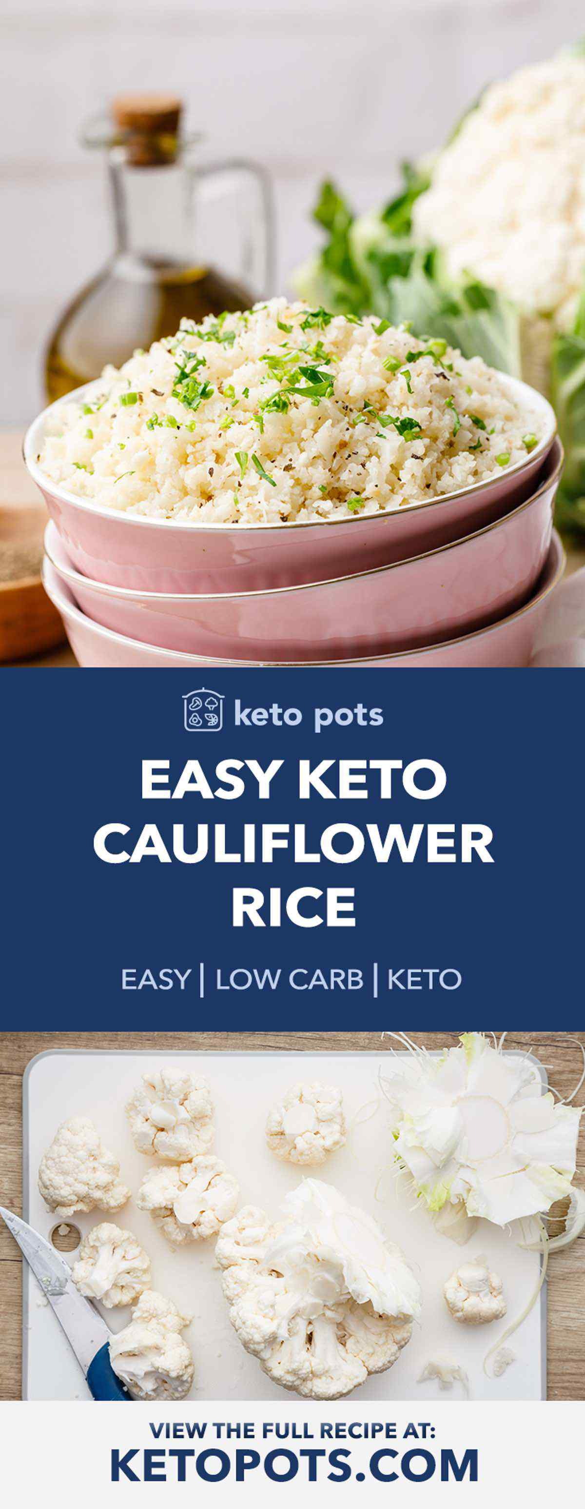 Easy Low Carb Keto Cauliflower Rice