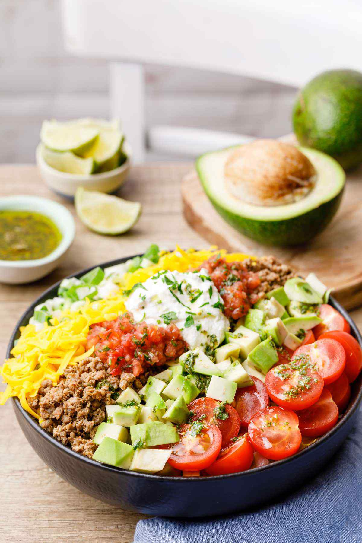 Easy Ground Beef Keto Taco Salad