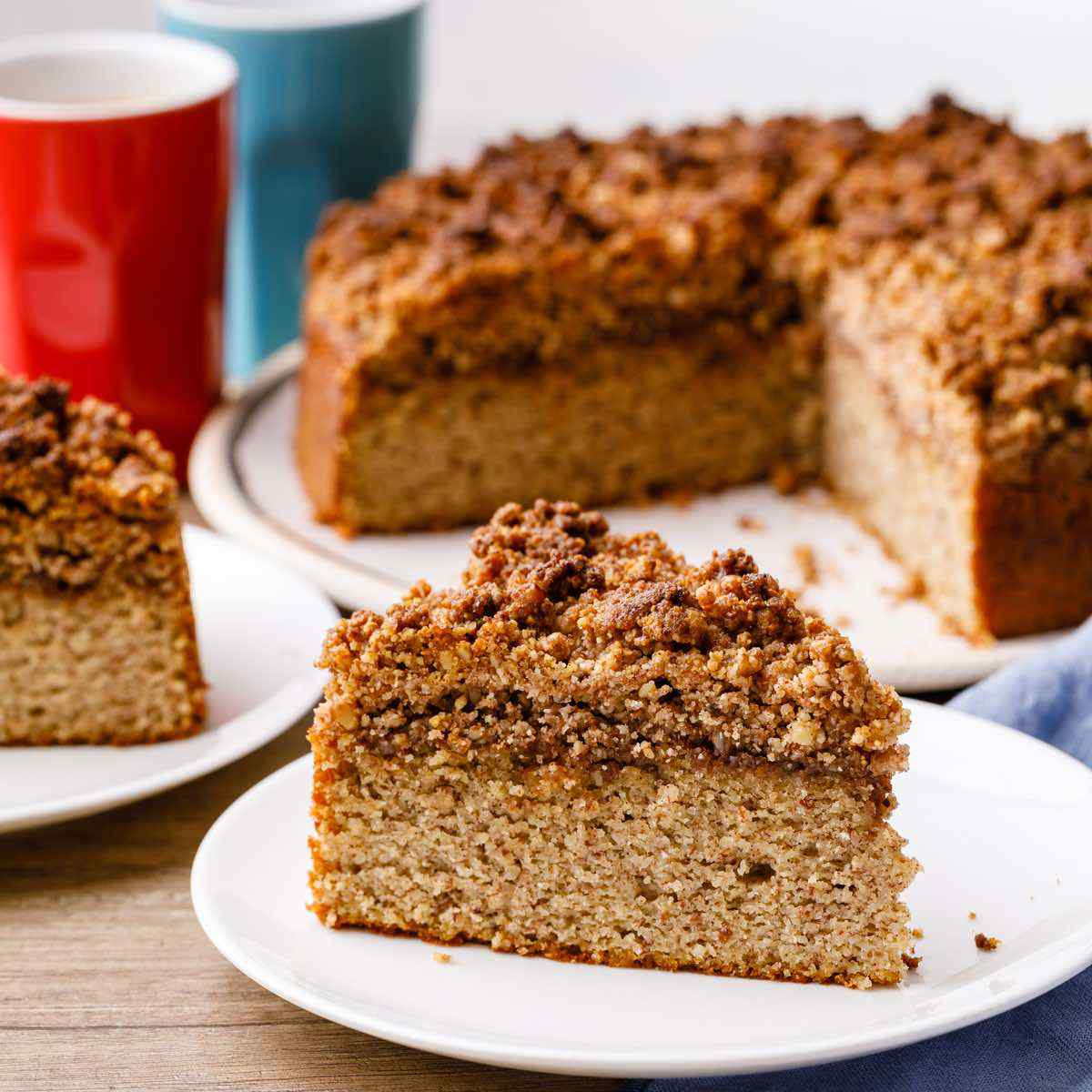 Low Carb Keto Coffee Cake With A Crumble Top Keto Pots
