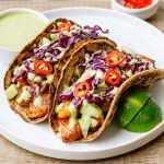 Keto Fish Tacos with Spicy Green Sauce