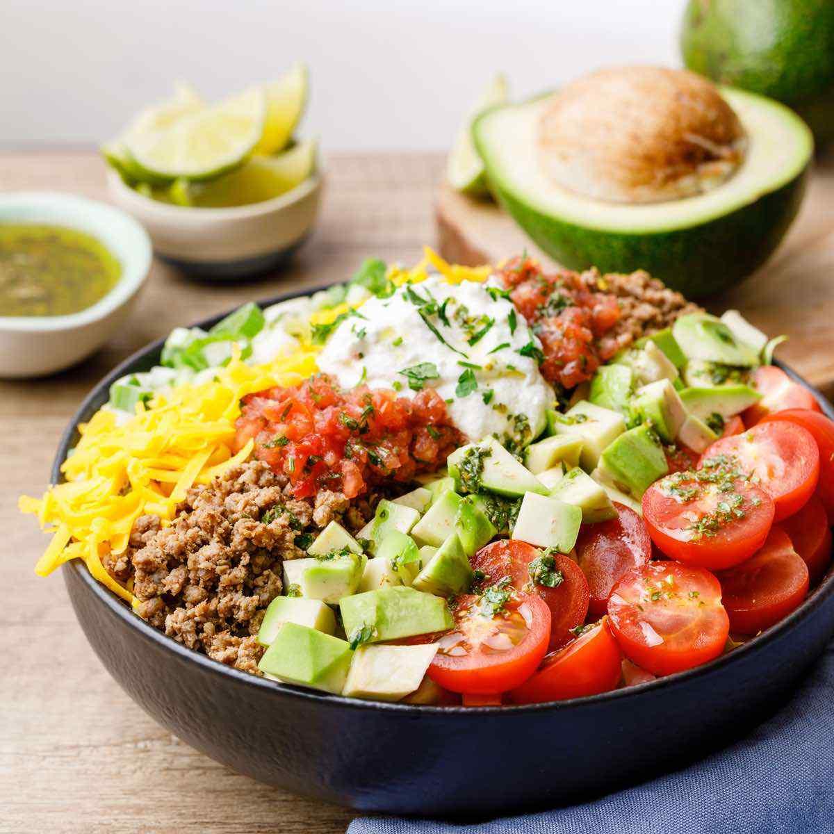 Taco Salad Recipe Keto