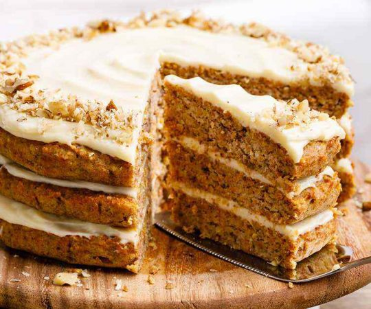 Almond Flour Keto Carrot Cake with Cream Cheese Frosting