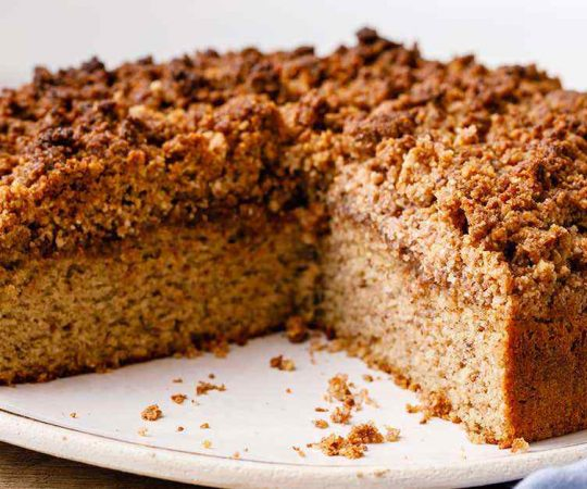 Low Carb Keto Coffee Cake with a Crumble Top