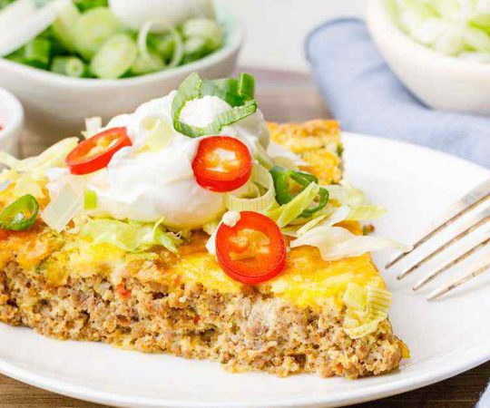 Easy Baked Keto Taco Pie