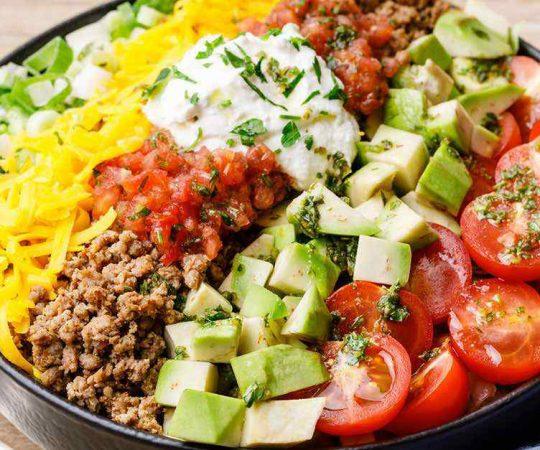 Easy Ground Beef Keto Taco Salad