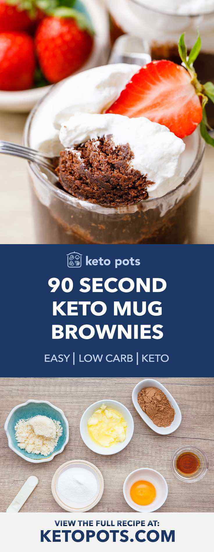Easy 90 Second Keto Mug Brownies Keto Pots