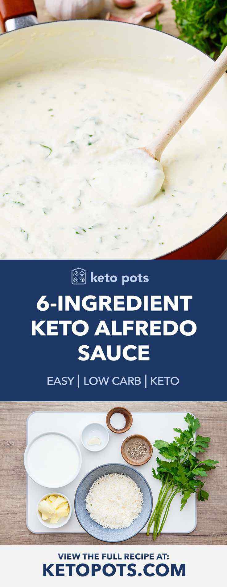 This creamy keto alfredo sauce is so easy to make and is SO GOOD.