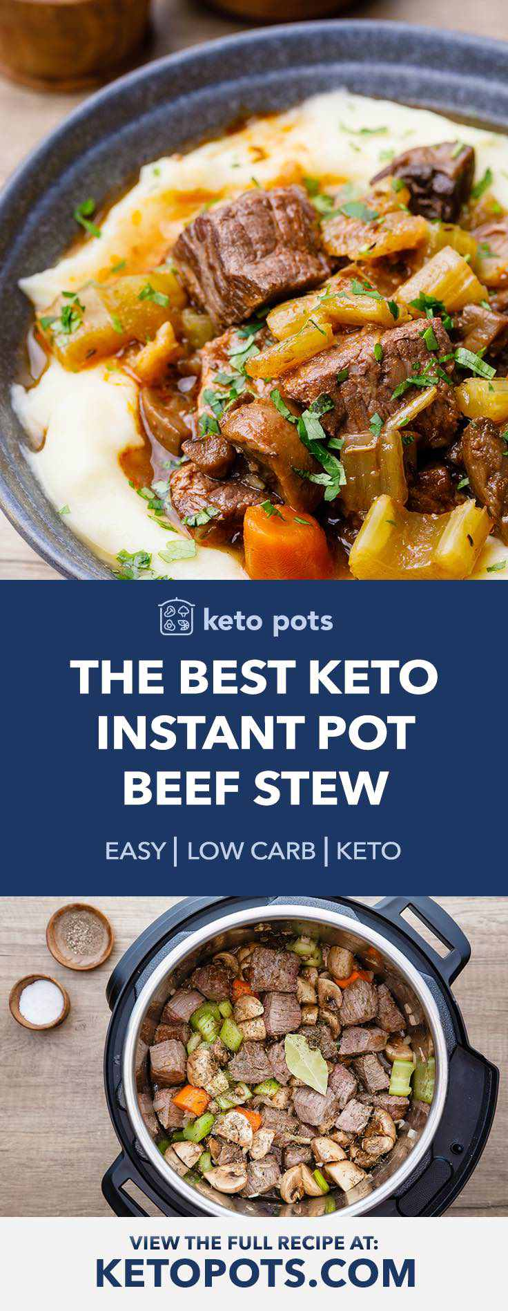 This instant pot keto beef stew is incredible!