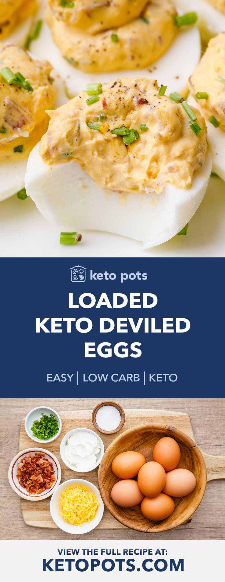 These loaded keto deviled eggs are incredible!