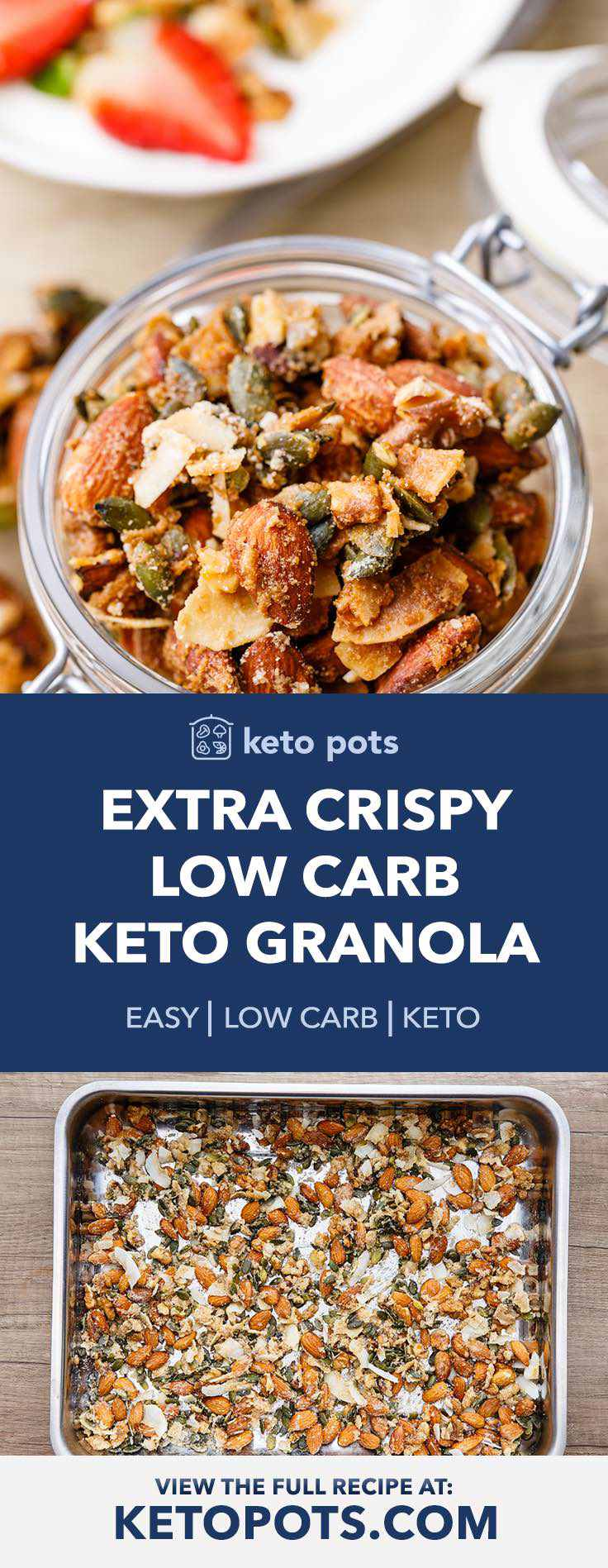 How to make the best crispy low carb keto granola.