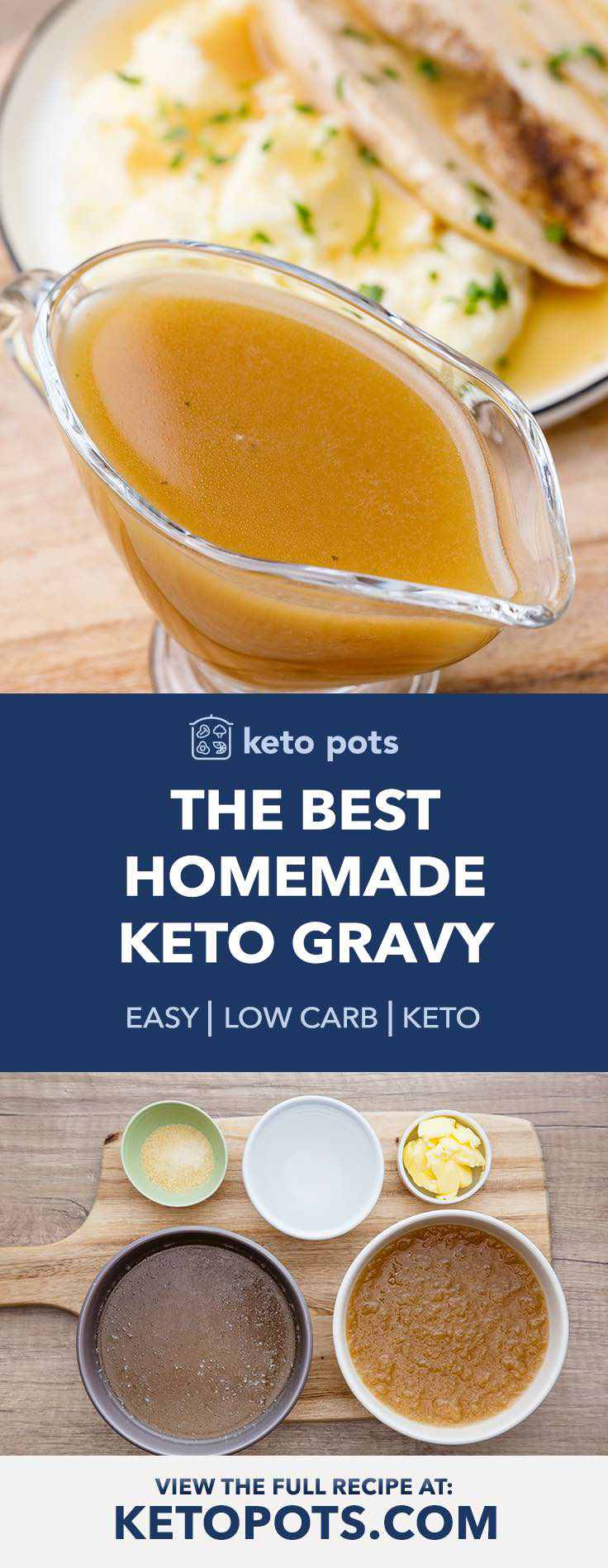 This homemade keto gravy is to-die-for.