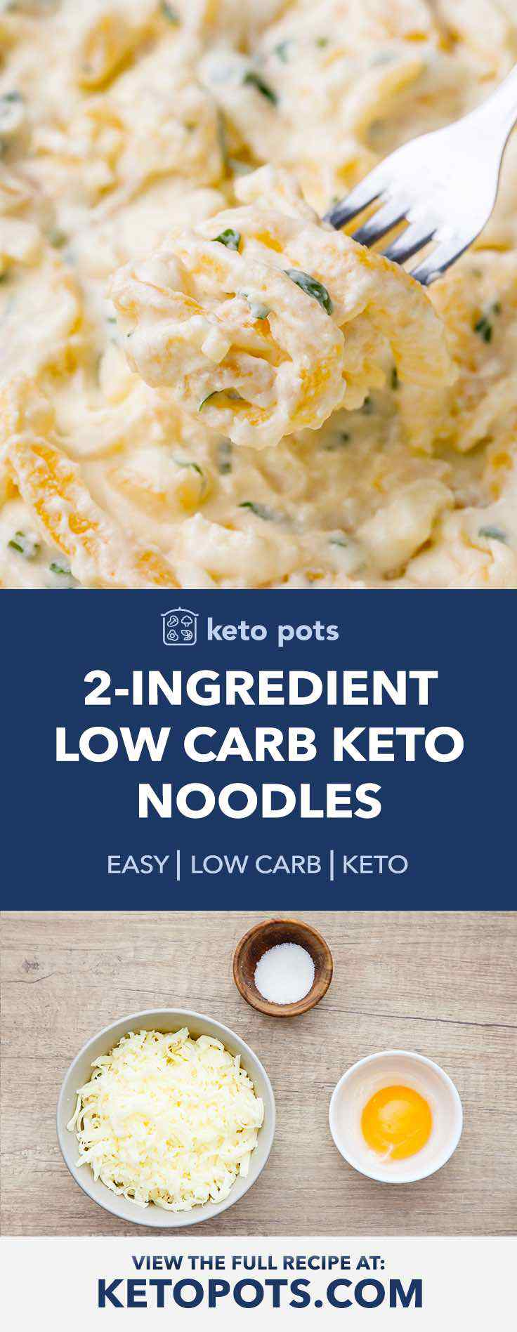 These are the BEST homemade 2-ingredient keto noodles.