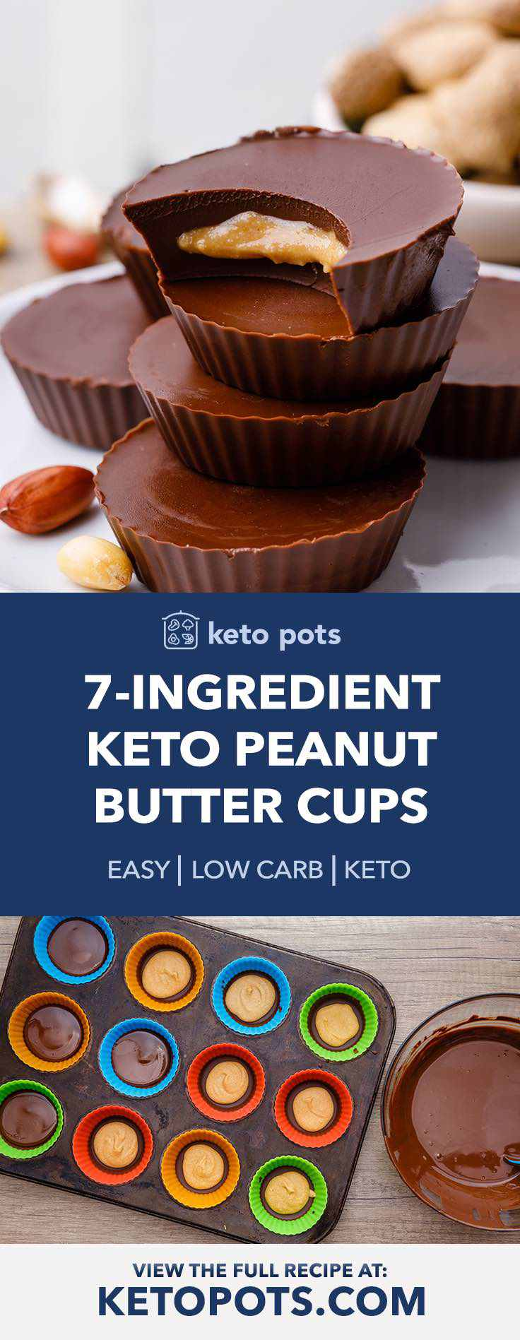 Try these incredible homemade keto peanut butter cups.