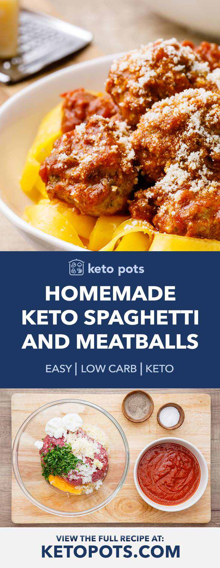 The best homemade keto spaghetti and meatballs.