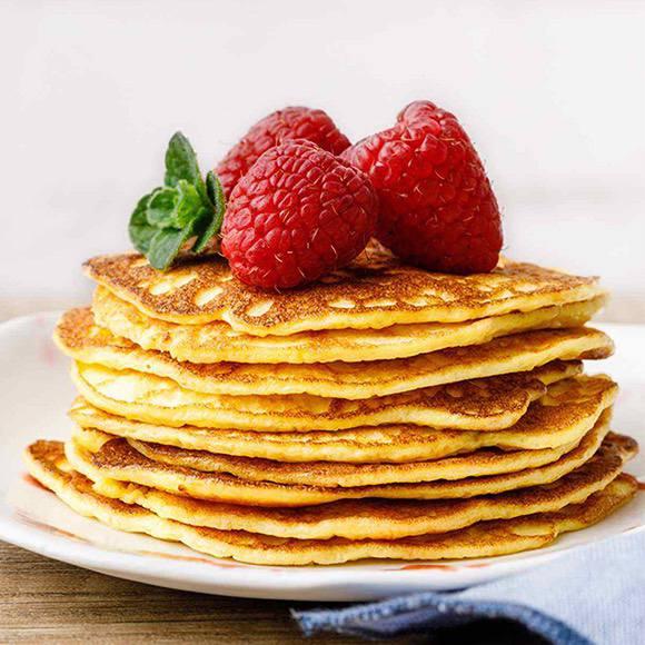 2-Ingredient Keto Cream Cheese Pancakes