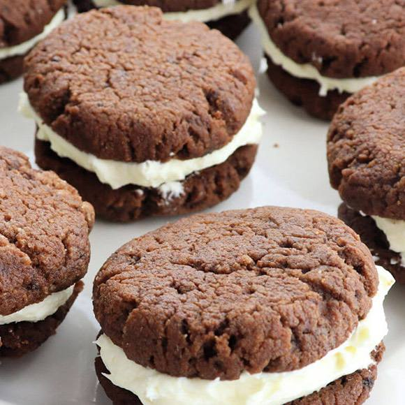Keto Chocolate Sandwich Cookies