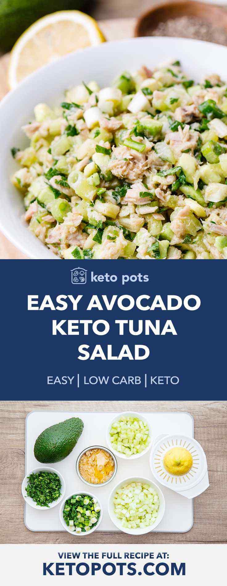 This is the best avocado keto tuna salad.