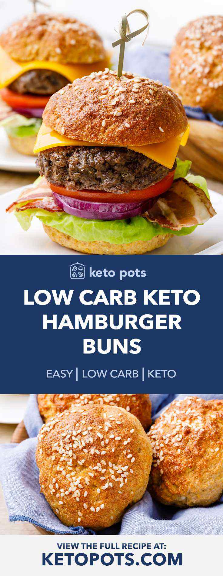 The best low carb keto hamburger buns.