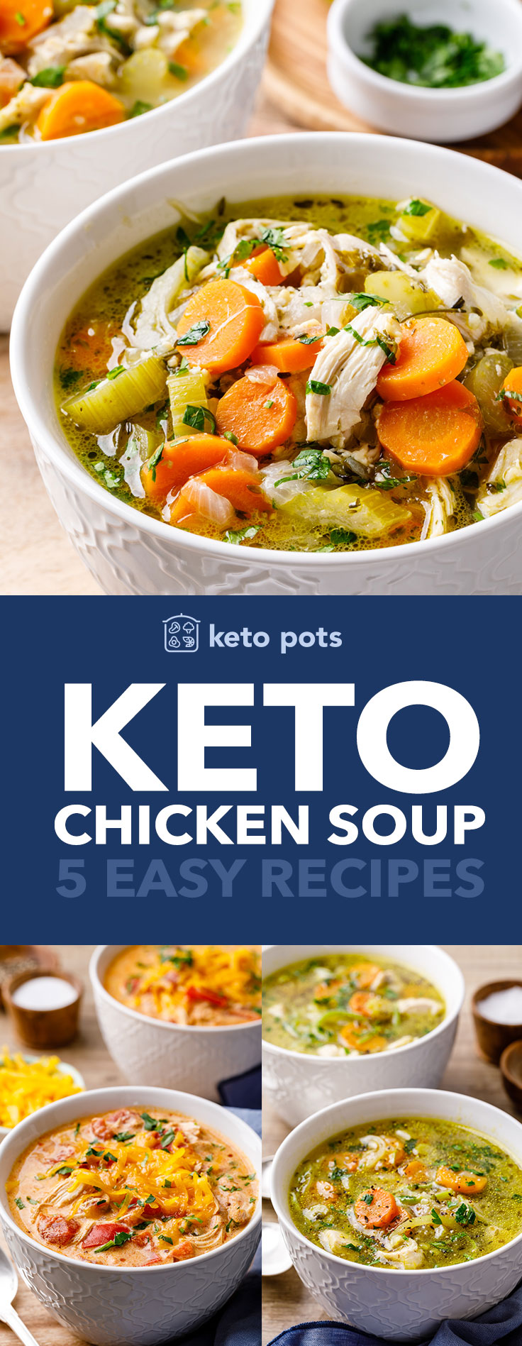 The best easy keto chicken soup recipes.