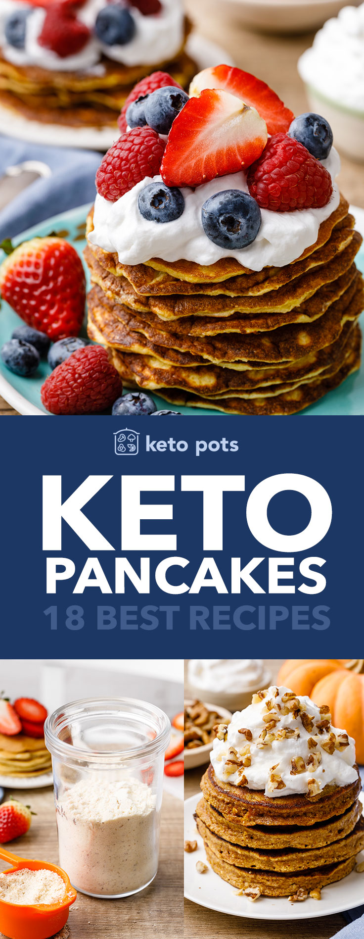 The best low carb keto pancakes.