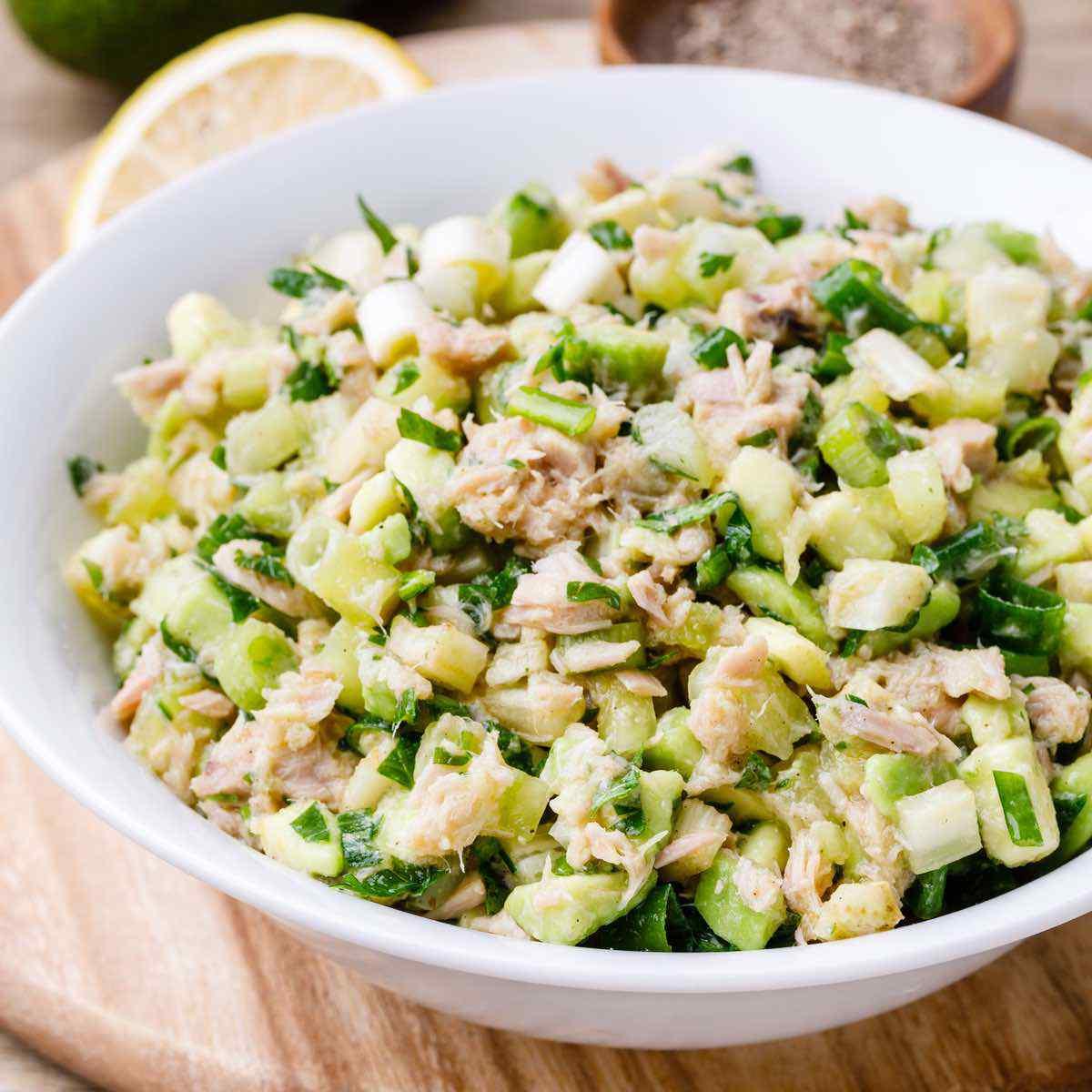 Easy Avocado Keto Tuna Salad No Mayo Keto Pots