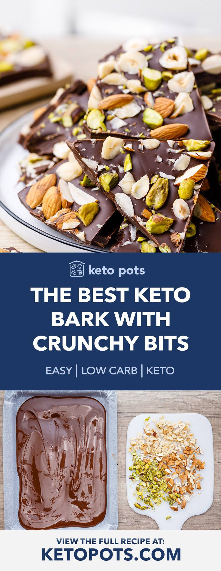 Sugar-Free Keto Bark with Crunchy Bits